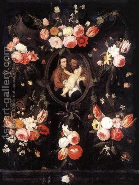 Holy Family 1660s by Jan van Kessel - Reproduction Oil Painting