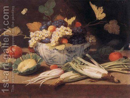 Still-Life with Vegetables by Jan van Kessel - Reproduction Oil Painting