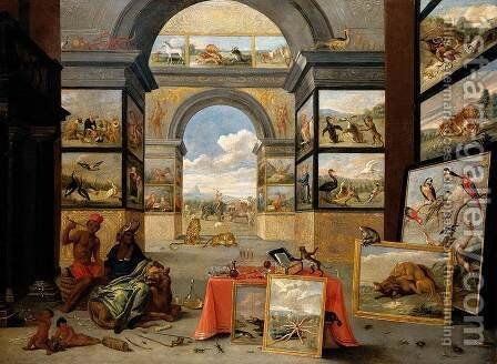The Continent of Africa 1672 by Jan van Kessel - Reproduction Oil Painting