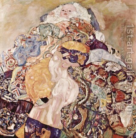 Baby  1917-18 by Gustav Klimt - Reproduction Oil Painting