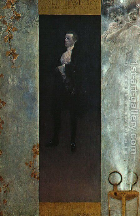 Josef Lewinsky  1895 by Gustav Klimt - Reproduction Oil Painting