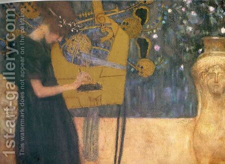 Music I  1895 by Gustav Klimt - Reproduction Oil Painting