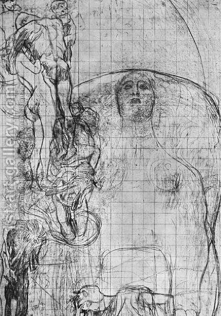 Study for Philosophy  1898-99 by Gustav Klimt - Reproduction Oil Painting