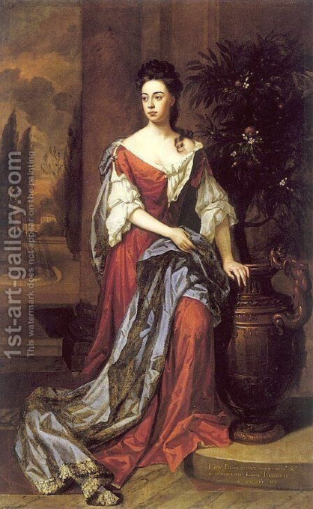 Dorothy Mason, Lady Brownlowe by Sir Godfrey Kneller - Reproduction Oil Painting