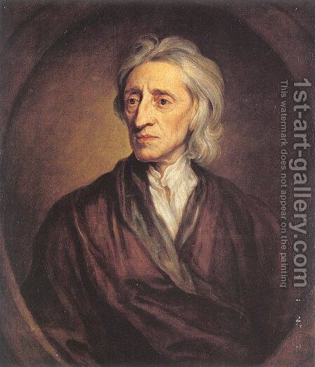 Portrait of John Locke  1697 by Sir Godfrey Kneller - Reproduction Oil Painting