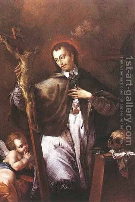 Saint John of Nepomuk  1770 by Johann Lucas Kracker - Reproduction Oil Painting