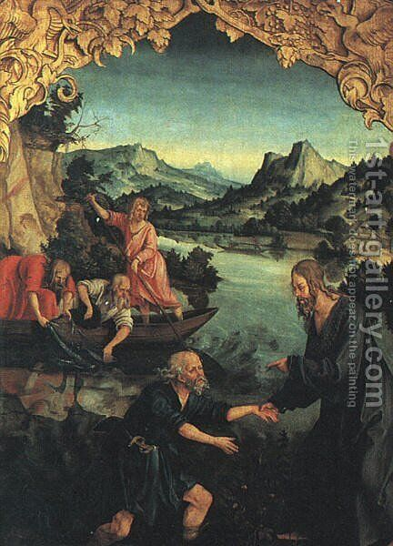 The Calling of St Peter  1514-16 by Hans Suss von Kulmbach - Reproduction Oil Painting