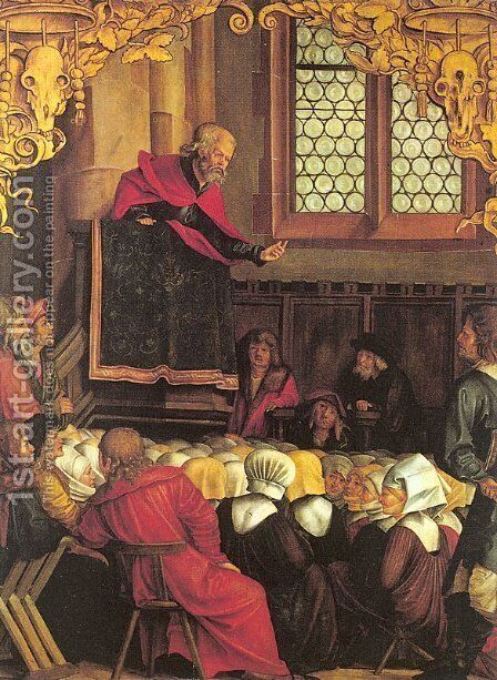 The Sermon of St. Peter  1514-16 by Hans Suss von Kulmbach - Reproduction Oil Painting