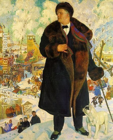 Portrait of Fiodor Shaliapin  1922 by Boris Kustodiev - Reproduction Oil Painting