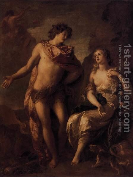 Bacchus and Ariadne c. 1699 by Charles de La Fosse - Reproduction Oil Painting