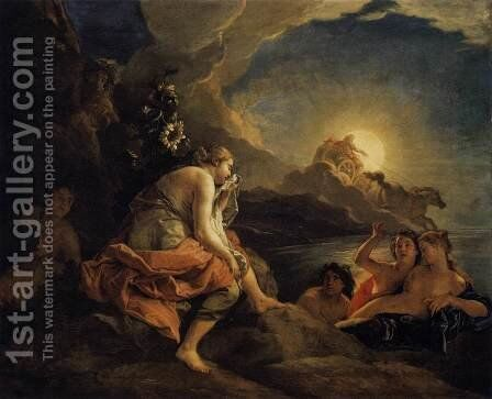 Clytie Transformed into a Sunflower  1688 by Charles de La Fosse - Reproduction Oil Painting
