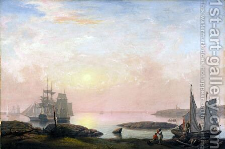 Castine Harbor  1852 by Fitz Hugh Lane - Reproduction Oil Painting