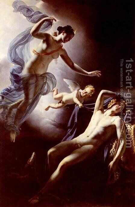 Diana and Endymion by Jerome Martin Langlois - Reproduction Oil Painting