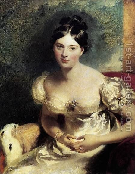 Margaret, Countess of Blessington  1822 by Sir Thomas Lawrence - Reproduction Oil Painting
