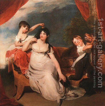 Mrs. Henry Baring and her Children  1817 by Sir Thomas Lawrence - Reproduction Oil Painting