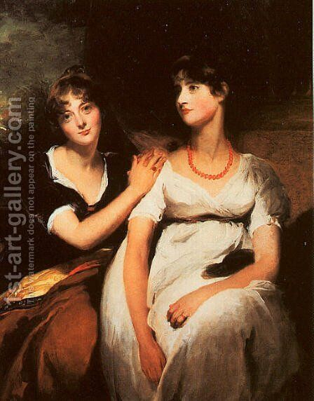 The Daughters of Colonel Thomas Carteret Hardy  1801 by Sir Thomas Lawrence - Reproduction Oil Painting