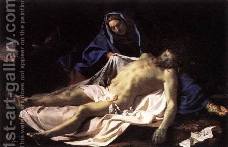 Pieta  1643-45 by Charles Le Brun - Reproduction Oil Painting