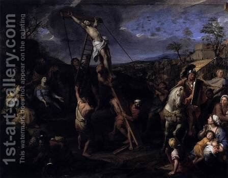 The Raising of the Cross  1685 by Charles Le Brun - Reproduction Oil Painting