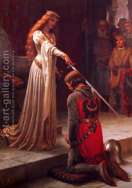 The Accolade  1901 by Edmund Blair Blair Leighton - Reproduction Oil Painting
