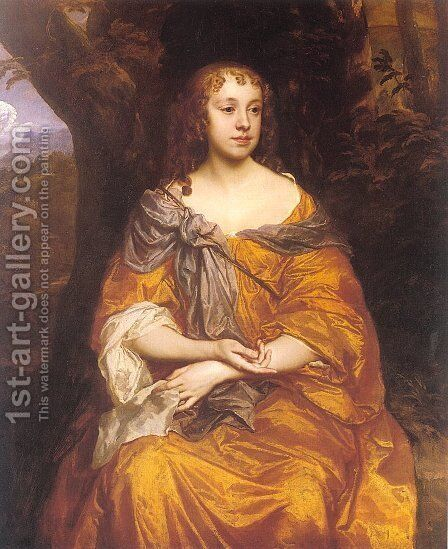 Miss Wharton  1660 by Sir Peter Lely - Reproduction Oil Painting