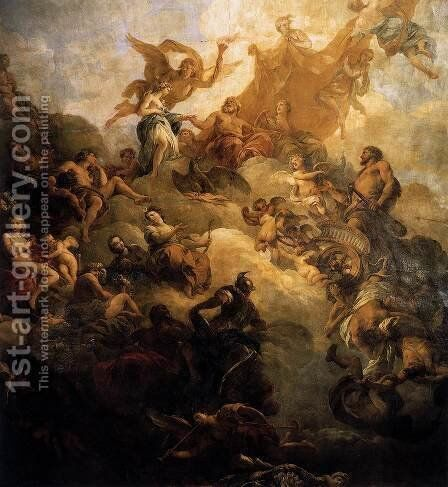 The Apotheosis of Hercules  1736 by Francois Lemoine (see Lemoyne) - Reproduction Oil Painting