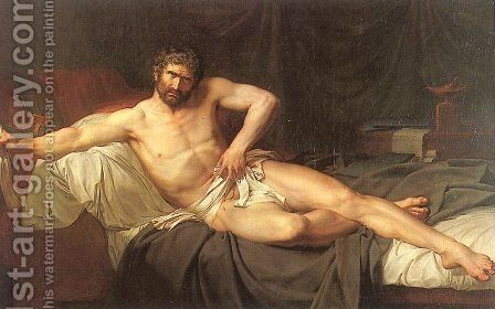 Death of Cato of Utica  1795 by Guillaume Guillon Lethiere - Reproduction Oil Painting