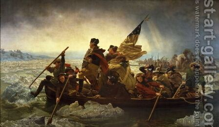 Washington Crossing the Delaware  1851 by Nicolas-Bernard Lepicier - Reproduction Oil Painting