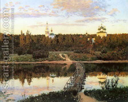 The Quiet Abode  1890 by Isaak Ilyich Levitan - Reproduction Oil Painting