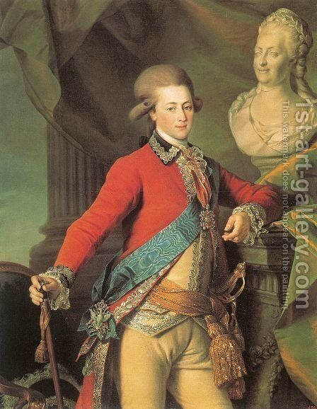 Portrait of Alexander Lanskoy, Aide-de-camp to the Empress  1782 by Dmitry Levitsky - Reproduction Oil Painting
