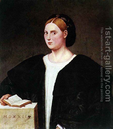 Portrait of a Woman  1522 by Bernardino Licinio - Reproduction Oil Painting