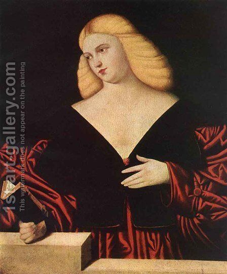 Portrait of a Woman by Bernardino Licinio - Reproduction Oil Painting