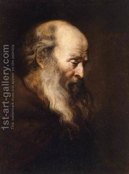 Portrait of an Old Man 1630-35 by Jan Lievens - Reproduction Oil Painting