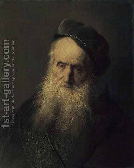 Study of an Old Man c. 1629 by Jan Lievens - Reproduction Oil Painting