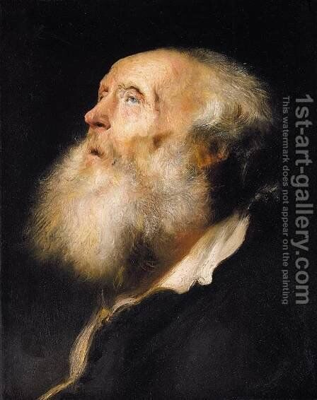 Study of an Old Man c. 1630 by Jan Lievens - Reproduction Oil Painting