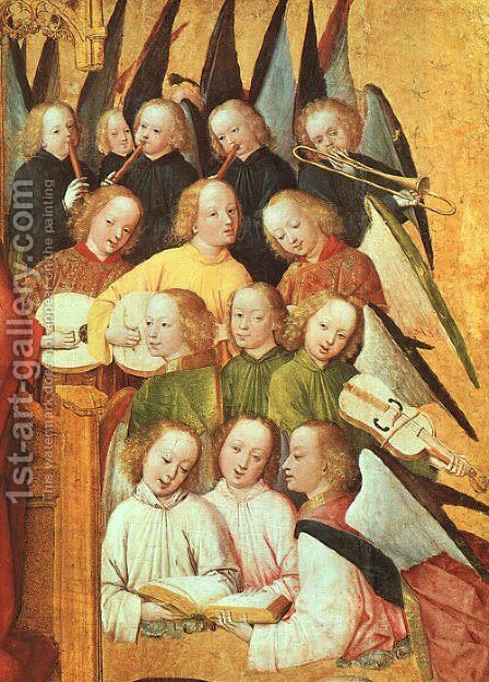Coronation of the Vigin  (detail) 1465 by Master of the Life of the Virgin - Reproduction Oil Painting
