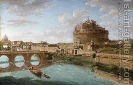 Rome- A View of the Tiber  1734 by Hendrik Frans van Lint (Studio Lo) - Reproduction Oil Painting