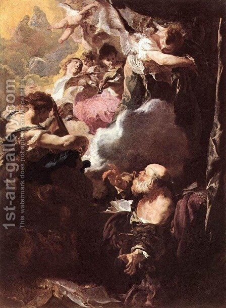 The Ecstasy of St Paul by Johann Liss - Reproduction Oil Painting