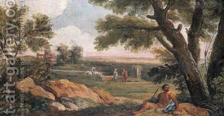 Landscape in Lazio with a Well by Andrea Locatelli - Reproduction Oil Painting