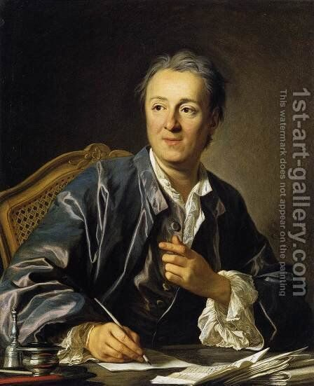 Portrait of Denis Diderot 1767 by Louis Michel van Loo - Reproduction Oil Painting