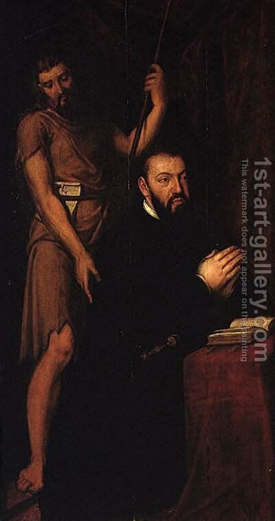 Portrait of Don Joao III c. 1545 by Cristovano Lopes - Reproduction Oil Painting