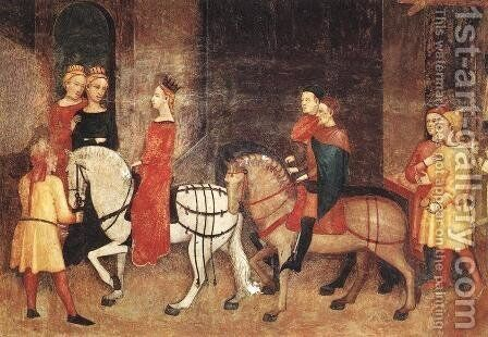 Effects of Good Government on the City Life (detail-5)  1338-40 by Ambrogio Lorenzetti - Reproduction Oil Painting