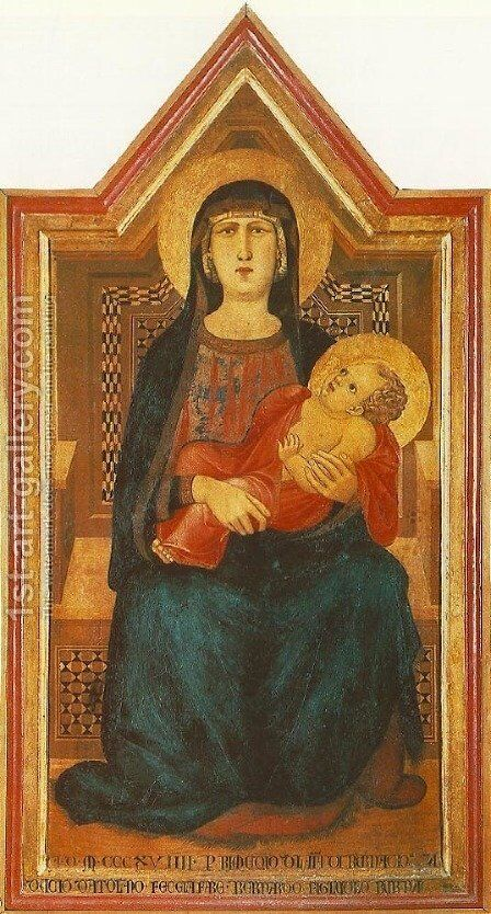 Madonna of Vico l'Abate 1319 by Ambrogio Lorenzetti - Reproduction Oil Painting