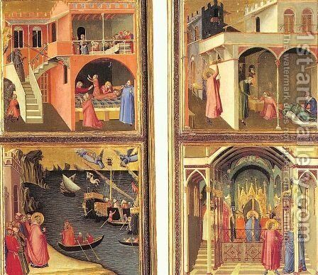 Scenes from the Life of St. Nicholas  1330 by Ambrogio Lorenzetti - Reproduction Oil Painting