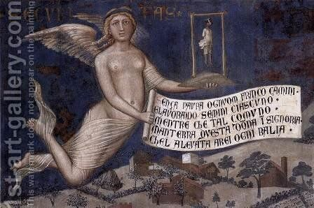 The Effects of Good Government in the Countryside (detail-4) 1338-40 by Ambrogio Lorenzetti - Reproduction Oil Painting