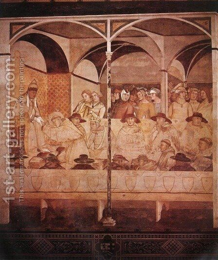 The Oath of St Louis of Toulouse 1324-27 by Ambrogio Lorenzetti - Reproduction Oil Painting