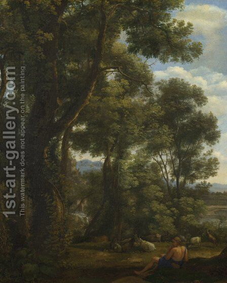 Landscape with Goatherd  1636 by Claude Lorrain (Gellee) - Reproduction Oil Painting