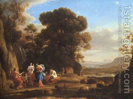 The Judgement of Paris  1645-46 by Claude Lorrain (Gellee) - Reproduction Oil Painting