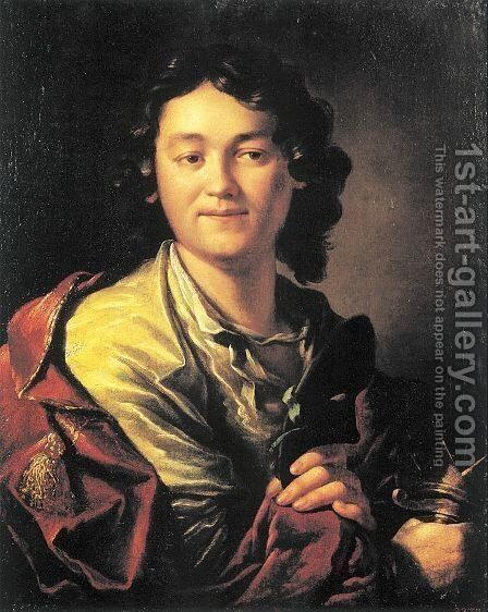 Portrait of Fiodor Volkov, the Founder of the First Russian Public Theatre  1763 by Anton Losenko - Reproduction Oil Painting