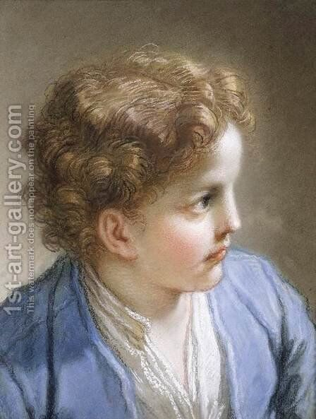 Head of a Young Boy  1717 by Benedetto Luti - Reproduction Oil Painting