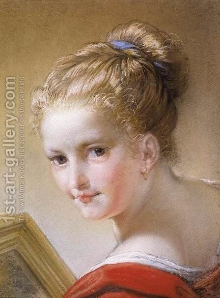 Head of a Young Girl  1717 by Benedetto Luti - Reproduction Oil Painting